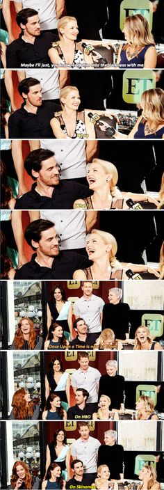 Jennifer, Colin, Lana, Josh, Ginnifer, Rebecca and Emilie - ET interview (pinned 11/10)