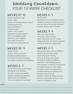 Complete Wedding Planning Guide and Checklist | Visual.ly