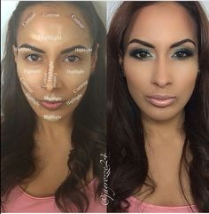 How to contour and high light the face