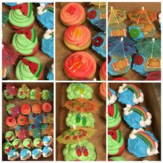 Summer themed cupcakes.  06/08/2015
