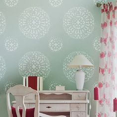 Antico Allover Wall Pattern  reusable by CuttingEdgeStencils, $54.95