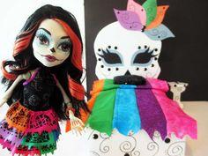 How to make a Skelita Calaveras Doll Bed Tutorial/ Monster High