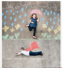 sidewalk chalk:)