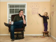 "World's Greatest Father - ""He's cool with her drawing on the wall, as long as it's pictures of him."""