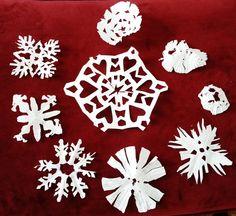 Cupcake Paper Snowflakes — Kids Holiday Craft Printable