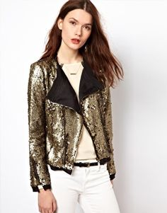 pretty cool throw over - might be too much - will know when i meet u Aryn K Sequin Kimono Jacket