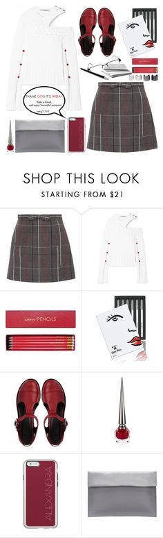 """TGIF"" by emcf3548 ❤ liked on Polyvore featuring Miu Miu, Hellessy, Sloane Stationery, Kjaer Weis, ASOS, Christian Louboutin and Luv Aj"