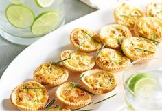 These delicate little tartlets make perfect finger food or would be great to take on a picnic