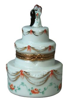 Limoges Floral Wedding Cake Box.