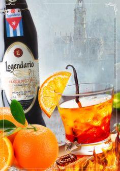Cocktail Ron Legendario: Legendario Naranja. Este va por Valencia. Fallas 2014