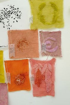 Natural dye - different fibres - Thea Haines website