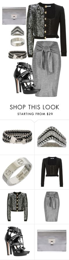 """""""This outfit deserves a silver medal"""" by tori-holbrook-th ❤ liked on Polyvore featuring Henri Bendel, Cartier, Givenchy, Balmain, River Island, Alexander McQueen and Proenza Schouler"""