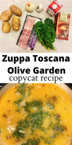 Most delicious homemade Zuppa Toscana Recipe. Easy and quick soup, perfect for lunch or easy dinner idea. #food #soup #olivegardeb