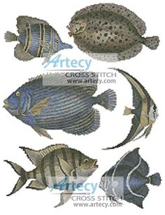 Butterfly Fish and Flounder Cross Stitch Pattern  http://www.artecyshop.com/index.php?main_page=product_info&cPath=1_5&products_id=593