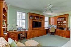 Desks/Office Space by Elmwood Fine Custom Cabinetry