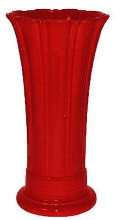 """Fiesta 9-5/8"""" Medium Vase, Scarlet - casa.com"""