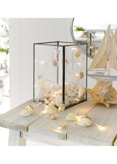 LED svítící řetěz s mušlemi pro námořniky Marine Style, Candle Holders, Candles, Led, Home, Ad Home, Porta Velas, Candy, Homes