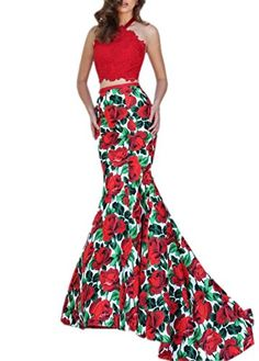 Prom Uk Women's Designer Print Sexy Long Prom Dresses 2016 Style L us2 Prom Uk