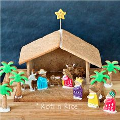 10 Christ Centered Christmas Traditions - Build a gingerbread nativity!