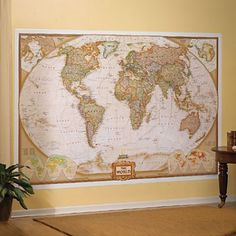 Old world wall map murals from 4 Corners Maps $95