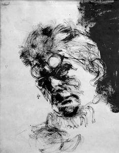 Samuel Beckett by Avigdor Arikha, 1967