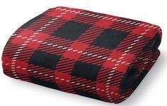 Christmas in Plaid Fleece Throw Blanket
