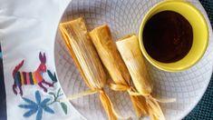 Carnitas Tamales with Manchamantel Sauce « Eliot's Eats Tamale Recipe, Carnitas Recipe, Parmesan Sauce, Fruit Tea, Beet Salad, Tamales, Pork, Eat