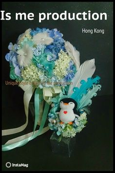 Handmade Penguin Corsages...how can I not love it ^0^