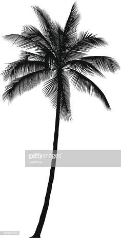 60 Ideas For Palm Tree Graphic Design Illustrations Tree Drawing Simple, Palm Tree Drawing, Arm Tattoo, Body Art Tattoos, Tattoo Drawings, Tatoos, Silhouette Tattoos, Silhouette Vector, Trendy Tattoos
