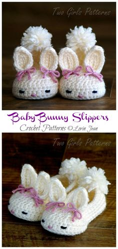 Crochet Kids Easter Gifts Free Patterns: Crochet Easter Blankets, Bunny hat, chick hat, bunny toy, slippers for babies and kids Crochet Easter, Easter Crochet Patterns, Crochet Diy, Crochet Baby Booties, Crochet Slippers, Crochet Gifts, Crochet For Kids, Bunny Slippers, Crochet Baby Stuff