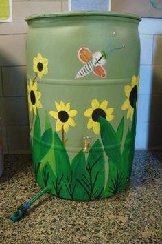 rain barrel art work ideas