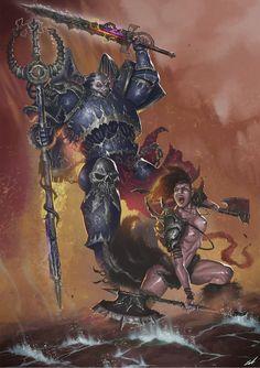 Manhunter VS Wizard por Isra - Fantasía | Dibujando.net
