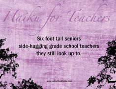 Awww. We love this special teacher haiku by the author of Suburban Haiku. Click to read the interview! #weareteachers #poetry #haiku