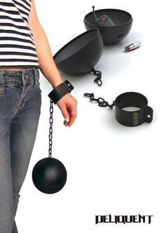 ball and chain bag with shackles as watch - design by Boris Klimek