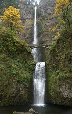 Multnomah Falls, near Troutdale, Or. at the Columbia River Gorge...northeast of Portland.