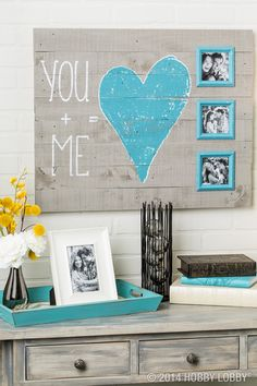 Celebrate life's best moments with a rustic-chic 'You + Me' wall frame!