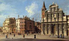 Giovanni Antonio Canal (called Canaletto),Santa Maria Zobenigo oil painting reproductions for sale