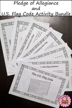 Teach about the Pledge of Allegiance and U.S. Flag Code with this activity bundle.