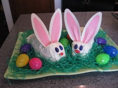 Easter bunny cakes with pic tutorial
