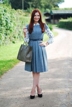 90 Marvelous Creative Formal Outfits for Work and Job Interview - Fashion Best Job Interview Outfits For Women, Interview Style, Short Sleeve Dresses, Dresses With Sleeves, Work Looks, Cute Outfits, Formal Outfits, Blouse Dress, Office Outfits