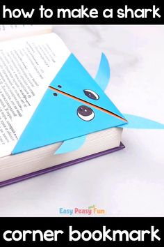 Shark Corner Bookmark Origami for Kids - Make this fierce looking, yet cute at the same time shark corner bookmark, to keep your books safe. Shark Corner Bookmark Origami for Kids Paper Crafts Origami, Paper Crafts For Kids, Diy Home Crafts, Crafts To Do, Creative Crafts, Paper Crafting, Diy For Kids, Wood Crafts, Cute Bookmarks