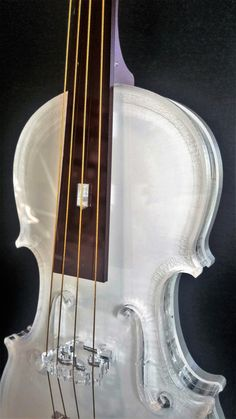 Violin model, Music art, Best selling item, Teacher gift, Musician gift, Home decor, Music gift, 3d art.  This beautiful elegant white and brown transparent violin model is medium sized, and made of laser-cut acrylic glass.  It consists of 26 parts, including realistic strings and an elegant stand, which are interconnected with patented designed pins, no glue was used. All parts are hand-assembled.The materials characteristics allow for a beautiful durable crystalline sheen.  This elegantly… Violin Art, Electric Violin, Musician Gifts, Laser Cut Acrylic, Music Humor, Musical Instruments, Teacher Gifts, Musicals, Cellos