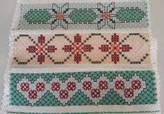 Bordado em tecido xadrez - Panos de Copa/Amostras (Detalhes sobre os bordados... Visitar)
