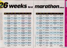 YOUR PLAN: 26 weeks to a marathon(42km)