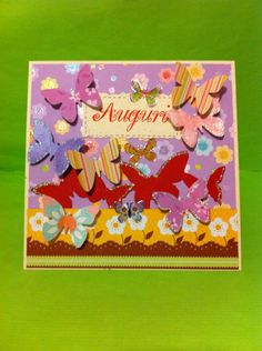 Card auguri volo farfalle
