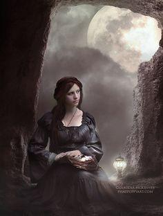 The Manuscript by Phatpuppyart-Studios on DeviantArt Full Moon Night, Pre Raphaelite, Dark Ages, Dark Fantasy Art, Detailed Image, Art Studios, Renoir, Daydream, Storytelling