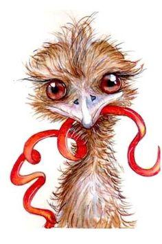 Emu by artist Emma Stuart