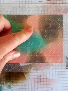 Using water in embossing folders and pressing onto inked card stock
