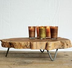 Raw Edged Wood Slab Tray   Wooden Tray With Feet