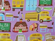 Back To School  Fabric By The Yard  H by TheFabricFox on Etsy, $8.95